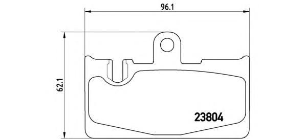 P83059 Колодки тормозные LEXUS LS 430 00-/RX 300 00-02 задние