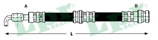 6T48215 Шланг тормозной MITSUBISHI CARISMA 95-99 задний (диск.торм.)