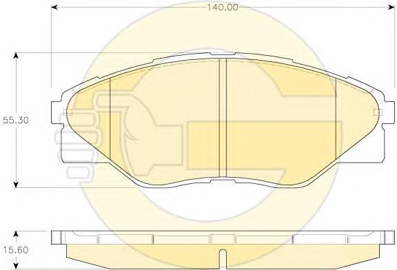 6135329 Колодки тормозные TOYOTA HILUX 08- передние