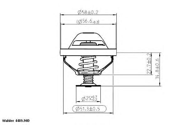 448990d Термостат, охлаждающая жидкость