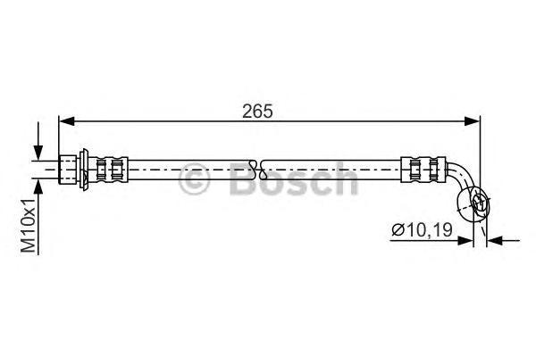 1987481127 Шланг тормозной TOYOTA LC 90/100 3.0-4.7 96- 265мм задний лев.