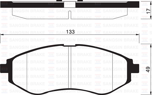 SP1158 Колодки тормозные CHEVROLET AVEO 1.2-1.4 06- передние