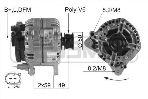 210045 Генератор AUDI/VW 1.9TDi