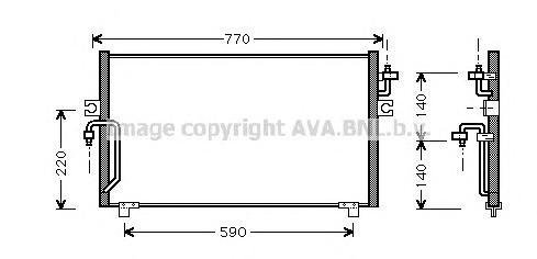 DN5182 Радиатор кондиционера NISSAN: PRIMERA (P11) 1.6 16V/1.8 16V/2.0 16V/2.0 TD 96 - 01 , PRIMERA Hatchback (P11) 1.6 16V/1.8