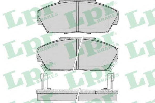 05P080 Колодки тормозные HONDA ACCORD 2.0 85-89/PRELUDE 2.0 86-92 передние