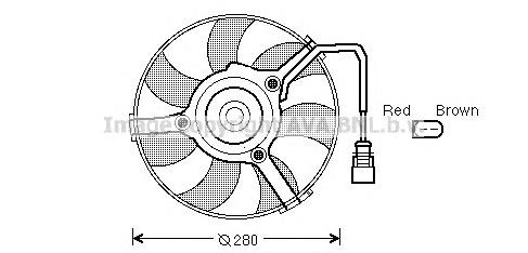 AI7516 Вентилятор радиатора VAG A4/A6/A8/PASSAT/SUPERB 1.8-4.2/1.9TD-2.5TD 96-08