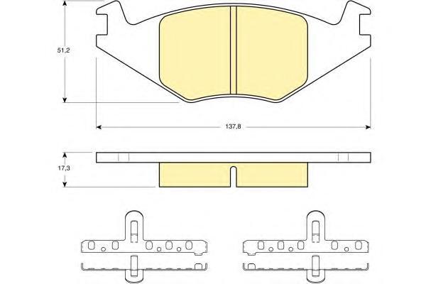 6104635 Колодки тормозные VOLKSWAGEN G1/G2 1.3/POLO 8794 передние