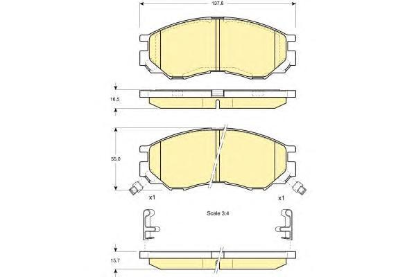 6112869 Колодки тормозные MITSUBISHI L200/L300/SPACE GEAR 94- передние