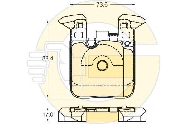 6120285 Колодки тормозные BMW F20/21/30/35/80/31 (со спорт.пакетом) задние