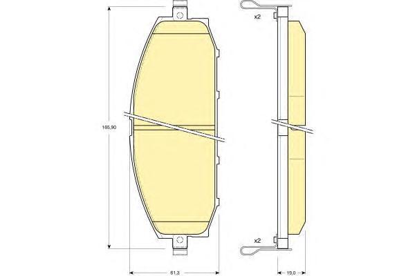 6132229 Колодки тормозные NISSAN PATROL 2.8D-4.2D 97-10 передние