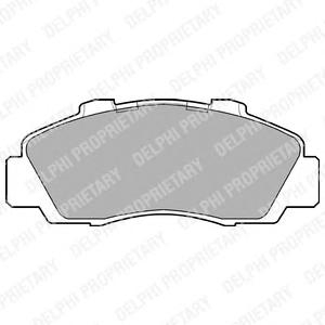LP872 Колодки тормозные HONDA ACCORD 91-98/CR-V 95-02 передние