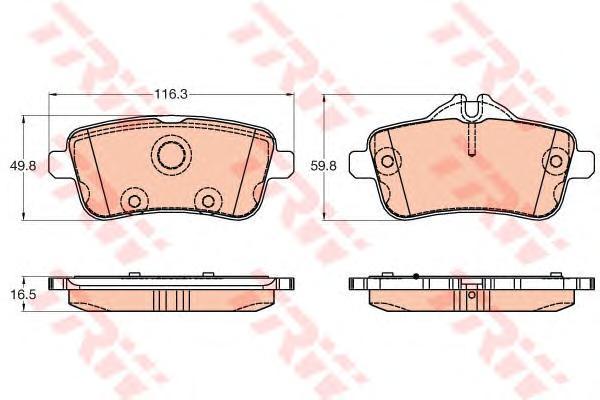 GDB1947 Колодки тормозные MERCEDES GL X166/ML W166 задние