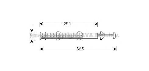 std043 Осушитель кондиционера VAG POLO/RAPID/ROOMSTER 1.0-1.6/1.4TD/1.6TD 09-