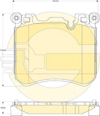 6118269 Колодки тормозные BMW X5 E70/F15/X6 E71/F15 передние
