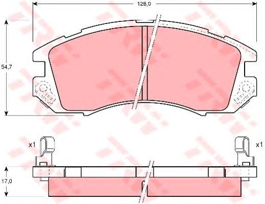 GDB989 Колодки тормозные SUBARU IMPREZA/LEGACY 1.6-2.2 89-00 передние