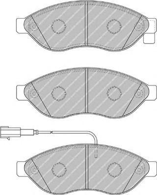 """FVR1923 Колодки тормозные CITROEN JUMPER/FIAT DUCATO/PEUGEOT BOXER R15"""" 06- передние"""