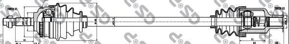 250038 Привод в сборе RENAULT MEGANE I 1.4-2.0 96-03 прав. +ABS