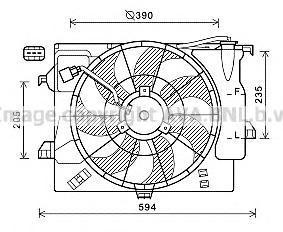 hy7546 Вентилятор, охлаждение двигателя