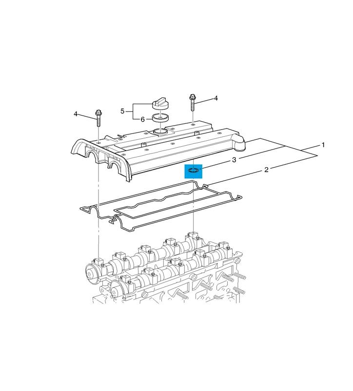 90411826 Кольцо уплотнительное клапанной крышки / OPEL