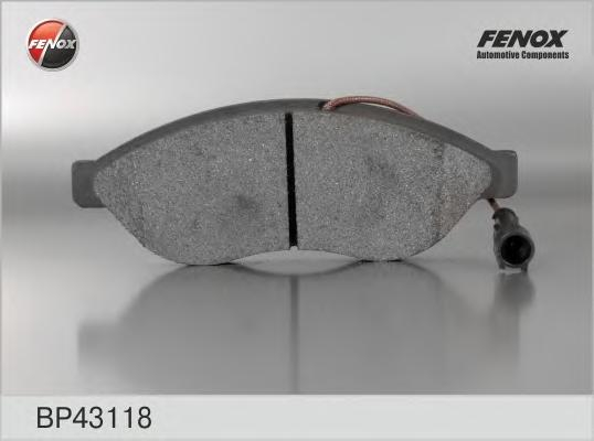 BP43118 Колодки тормозные CITROEN JUMPER/FIAT DUCATO/PEUGEOT BOXER R15 06- передние