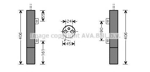 MSD090 Осушитель кондиционера MB W164/W211 1.8-63./2.2D-4.0D 06-