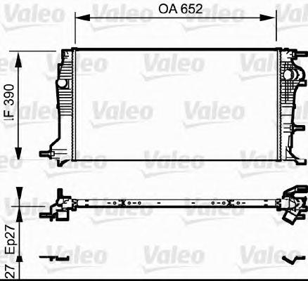 735182 Радиатор системы охлаждения RENAULT: MEGANE III Наклонная задняя часть (BZ0) 1.9 dCi (BZ0N, BZ0J)/2.0 16V (BZ0G)/2.0 16V