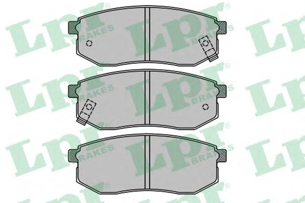 05P1514 Колодки тормозные HYUNDAI GALLOPER 98-/SANTAMO 99-/KIA JOICE 00- задние