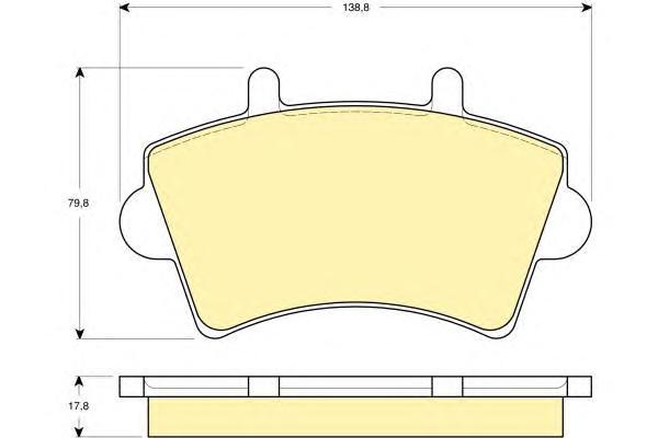 6114424 Колодки тормозные NISSAN INTERSTAR/OPEL MOVANO/RENAULT MASTER 00- передние