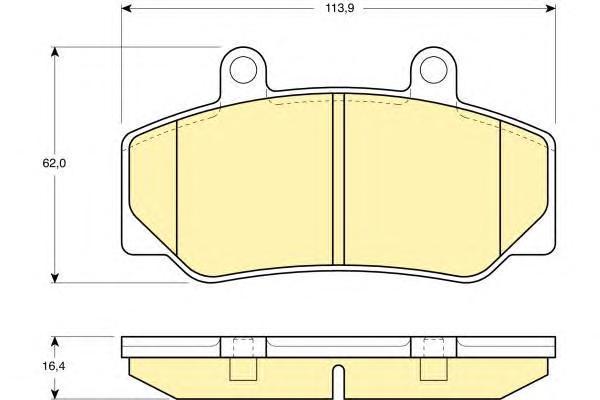 6109703 Колодки тормозные VOLVO 740/760/940/960 82-96 передние