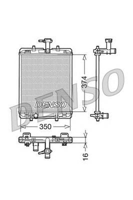 DRM21602 Радиатор системы охлаждения CITROEN: C1 (PM, PN) 1.0 05 -  PEUGEOT: 107 1.0 05 -