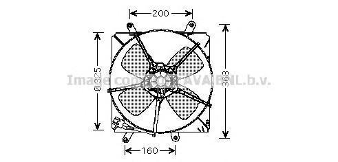 TO7514 Вентилятор радиатора TOYOTA CARINA 1.6-2.0 93-97