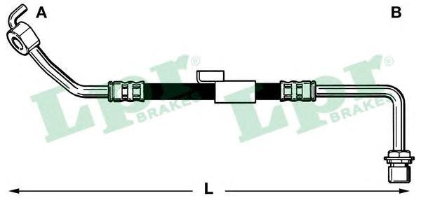 6T46217 Шланг тормозной FORD TRANSIT 85-92 передний правый 430мм