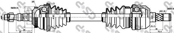 244038 Привод в сборе OPEL VECTRA B 1.6-2.5 95-03 лев. +ABS