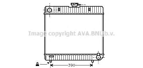 MS2042 Радиатор MB W123 2.0-3.0 76-87