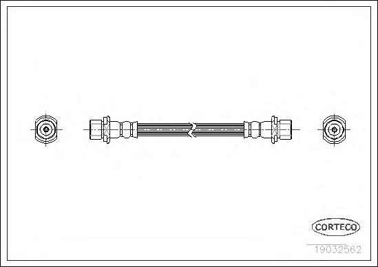 19032562 Шланг тормозной TOYOTA: PICNIC 2.0 16V/2.2 D 96-01