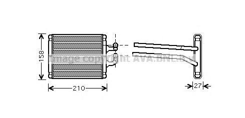 KA6067 Радиатор отопителя KIA PICANTO 1.0-1.1 04-