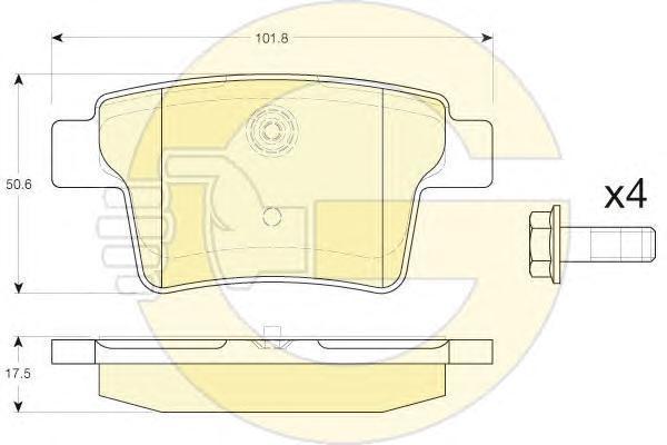 6119885 Колодки тормозные FORD MONDEO III 09.04-/JAGUAR X-TYPE задние
