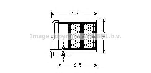 HY6213 Радиатор отопителя HYUNDAI i30 1.4-2.0 07-