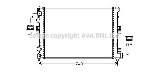 CNA2078 Радиатор системы охлаждения CITROEN: EVASION (22, U6) 1.8/2.0/2.0 16V 94 - 02  FIAT: ULYSSE (220) 2.0 (220.AC5)/2.0 16V