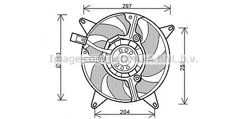 FT7544 Вентилятор радиатора FIAT PANDA 1.1 95-04