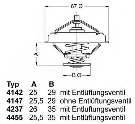 414780D Термостат FORD TRANSIT 2.5D / PEUGEOT 1.9D 85-92