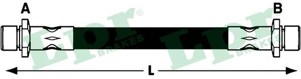 6T47934 Шланг тормозной SUBARU IMPREZA 92-00/LEGACY 89-99 задний
