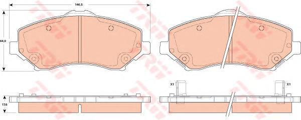 GDB4605 Колодки тормозные CHRYSLER VOYAGER/DODGE JOURNEY/NITRO/WRANGLER 07- передние