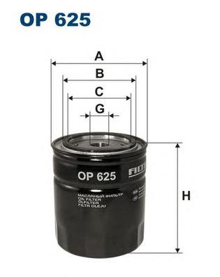 OP625 Фильтр масляный OPEL OMEGA A/FRONTERA 2.3 TD