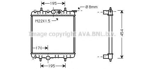 PE2188 Радиатор PEUGEOT 206 1.1-1.6 98-