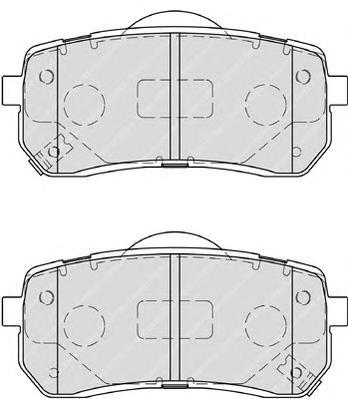 FDB4114 Колодки тормозные HYUNDAI H1 02-/iX55 3.0 08-/KIA CARNIVAL 06- задние
