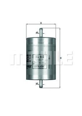 KL65 Фильтр топливный MB/SSANGYONG/VW