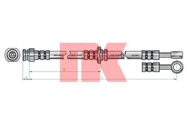 853021 Шланг тормозной MITSUBISHI GALANT 1.8-2.5 92-96 передний