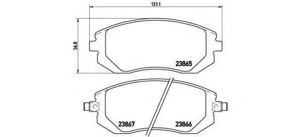 P78013 Колодки тормозные SUBARU FORESTER 01-/IMPREZA 01-/LEGACY 98- передние