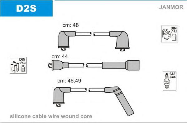 D2S Комплект проводов зажигания DAEWOO: MATIZ 98-